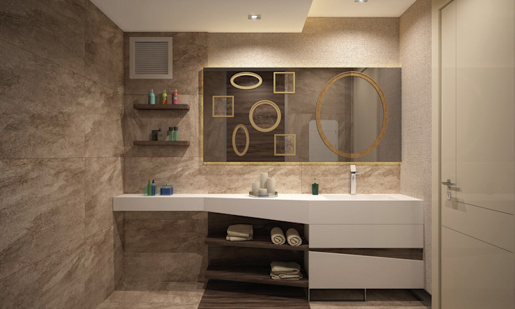 Banheiros modernos por BWorks Moderno