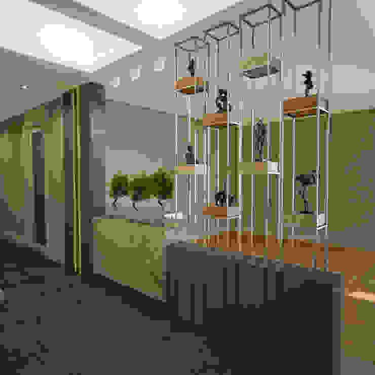 Pasillos, vestíbulos y escaleras de estilo moderno de BWorks Moderno