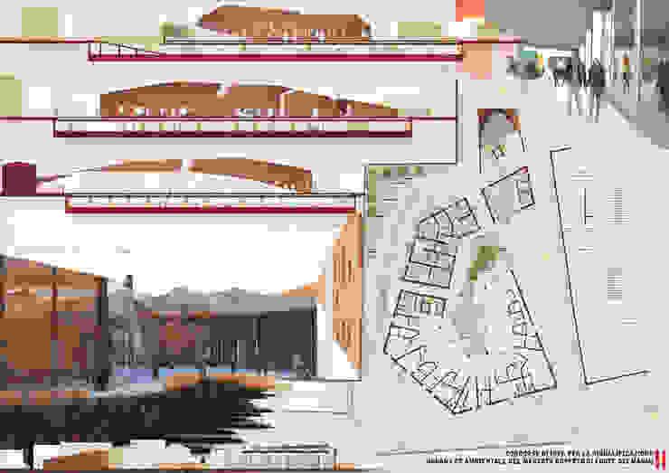 Tavola 2 Spazi commerciali in stile eclettico di LAD studio Eclettico