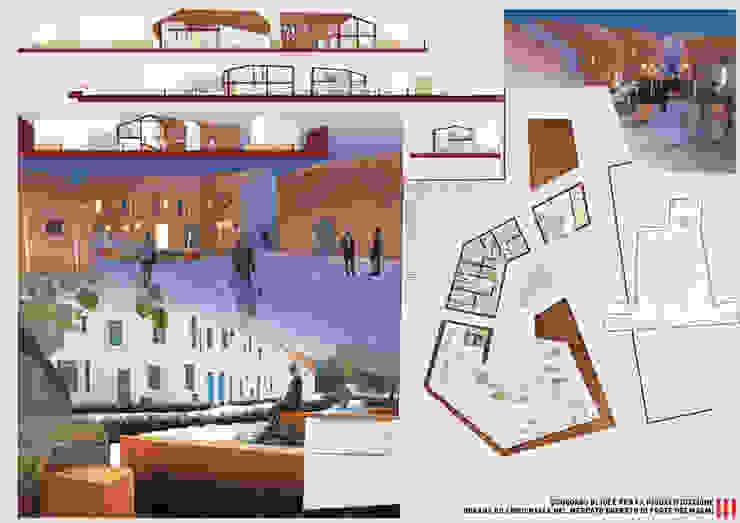 Tavola 3 Spazi commerciali in stile eclettico di LAD studio Eclettico