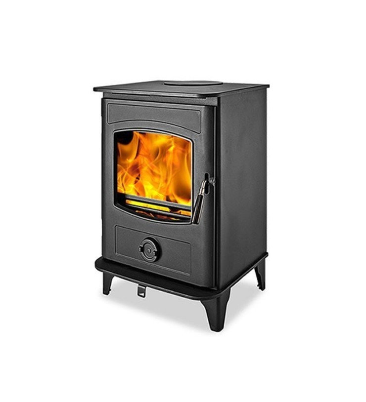 Graphite 5 DEFRA Approved Wood Burning Multifuel Stove: modern  by Direct Stoves, Modern