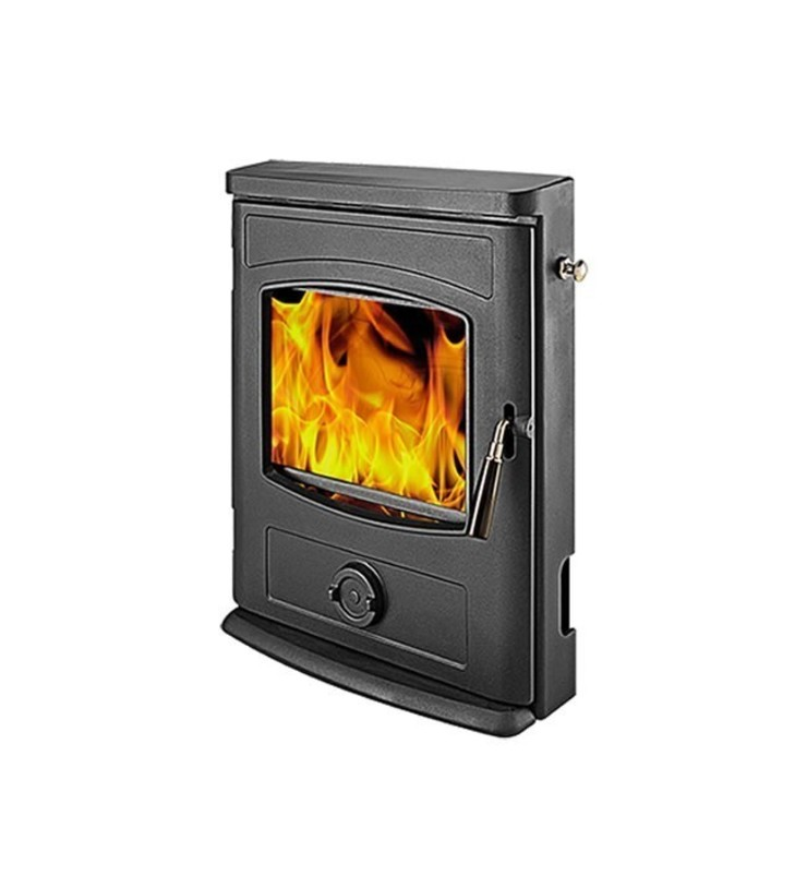 Graphite Inset Multifuel Stove: modern  by Direct Stoves, Modern