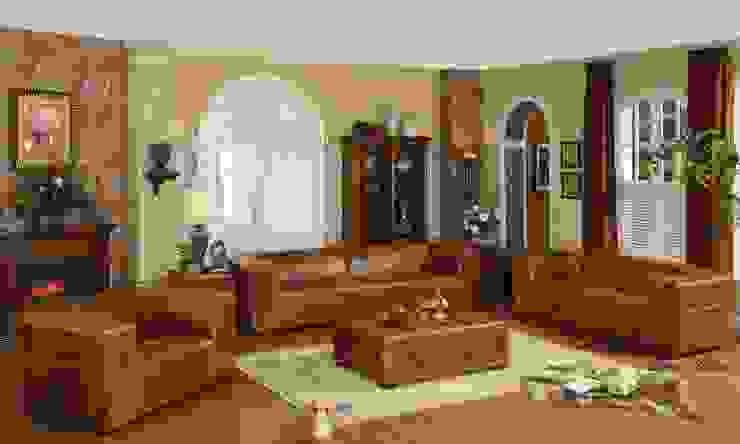 Leather Sofa: classic  by Locus Habitat,Classic