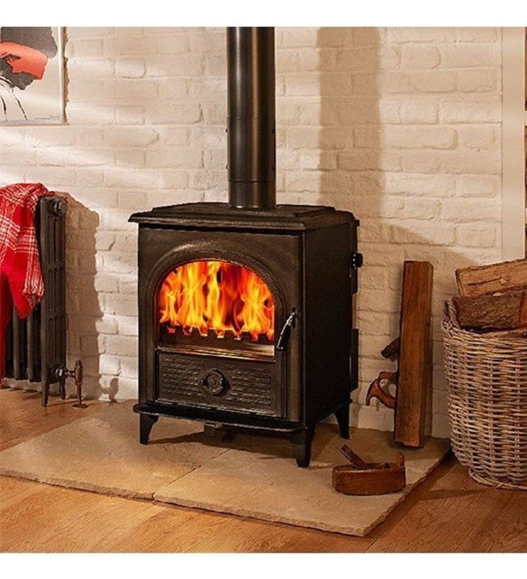 Hi-Flame Alpha I DEFRA Approved Multifuel Stove: country  by Direct Stoves, Country