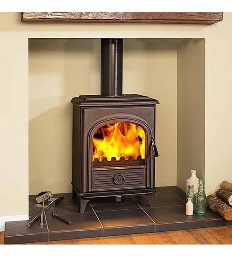 Hi-Flame Alpha II DEFRA Approved Multifuel Stove: country  by Direct Stoves, Country