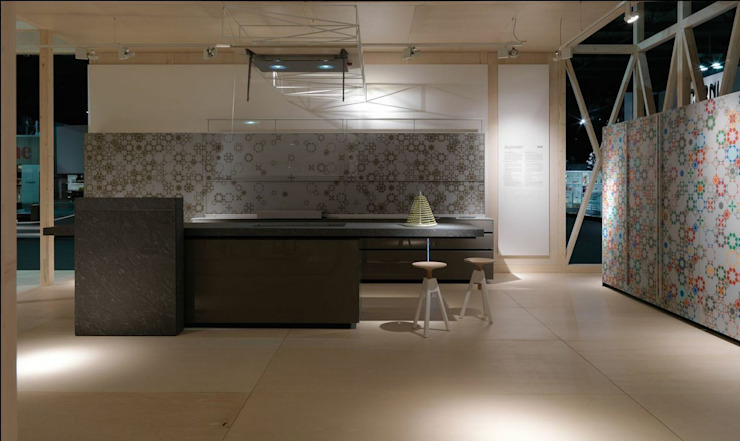 New Logica System | Cardoso stone worktop Valcucine ห้องครัวเคาน์เตอร์ครัว