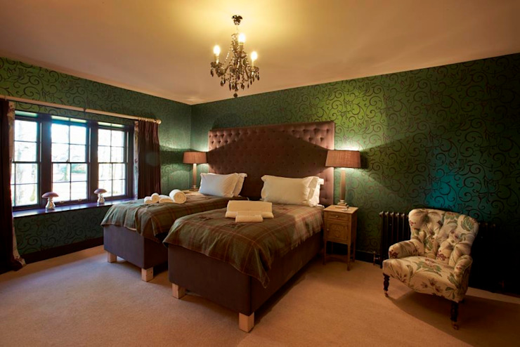 Bedroom Country style hotels by Architects Scotland Ltd Country