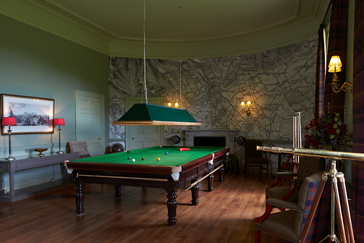 Snooker Room Country style hotels by Architects Scotland Ltd Country