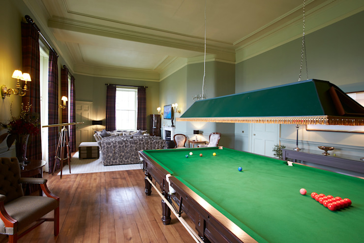 Snooker Room Country style houses by Architects Scotland Ltd Country