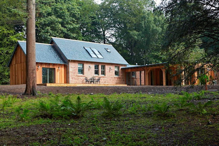 Rear Elevation Country style houses by Architects Scotland Ltd Country