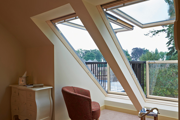 Balcony Windows Puertas y ventanas modernas de Architects Scotland Ltd Moderno