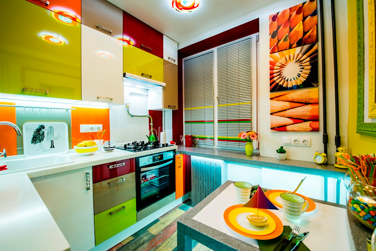 Eclectic style kitchen by Сделано со вкусом на ТНТ Eclectic