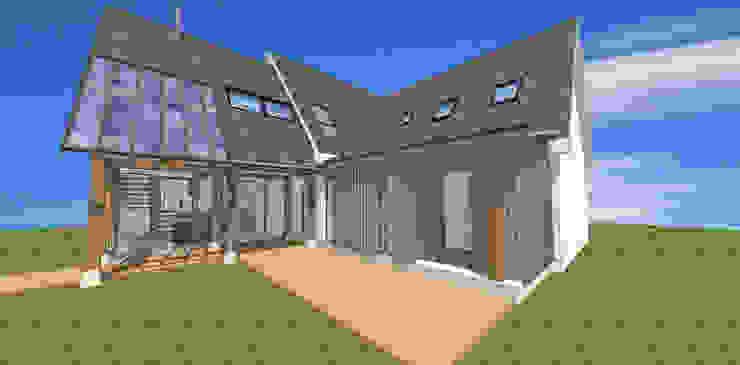 House Extension Oak Frame por Architects Scotland Ltd