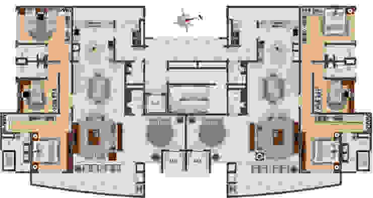Modern houses by DE-H ARQUITETURA Modern
