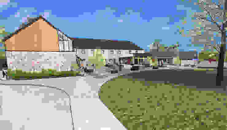 Visitors Centre / Farmshop / Restaurant Modern shopping centres by Architects Scotland Ltd Modern