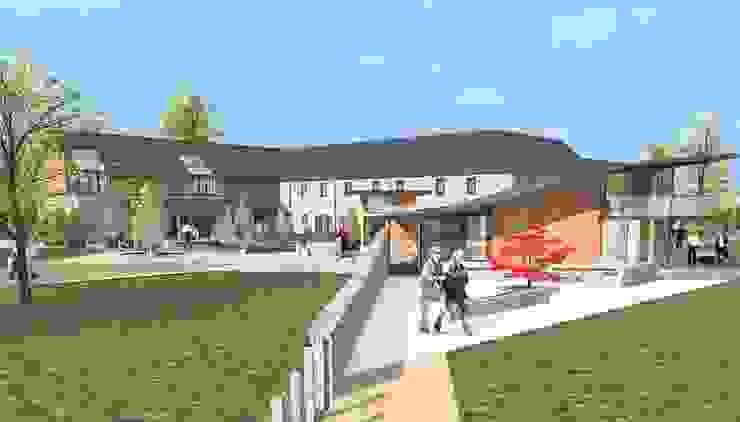 Visitors Centre / Farmshop / Restaurant Modern exhibition centres by Architects Scotland Ltd Modern