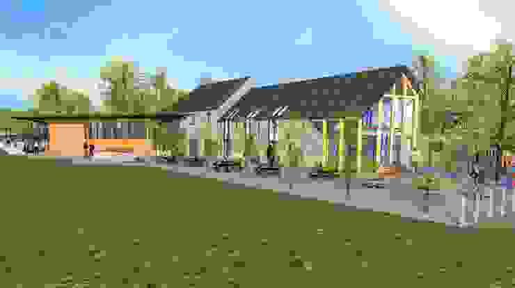 Visitors Centre / Farmshop / Restaurant Modern commercial spaces by Architects Scotland Ltd Modern