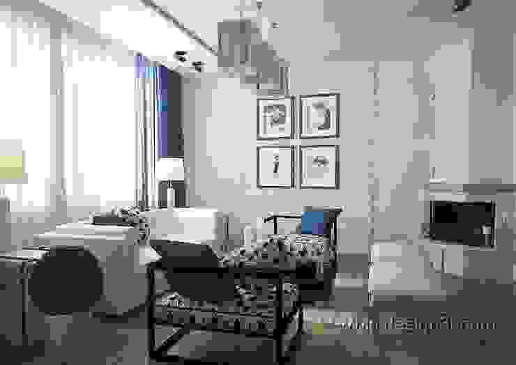 гостиная Гостиная в стиле модерн от студия Design3F Модерн