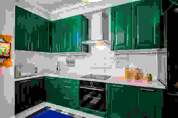 До и после ремонта: 12-метровая кухня в эпатажном стиле: Кухни в . Автор – Сделано со вкусом на ТНТ,