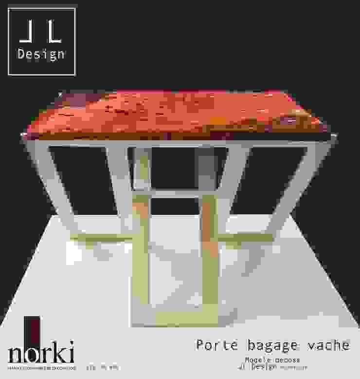 PORTE BAGAGES EN PEAU DE VACHE par Print-out / james lenglin design Moderne
