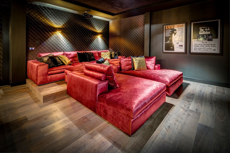 Modern media room by Kabaz Modern