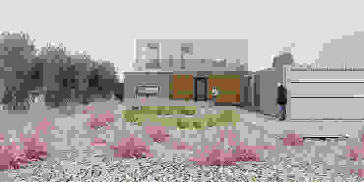 Beach House - Entrance Elevation by ABIR Architects