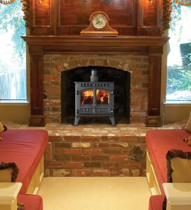 Hunter Herald 5 Slimline Wood Burning Stove: country  by Direct Stoves, Country