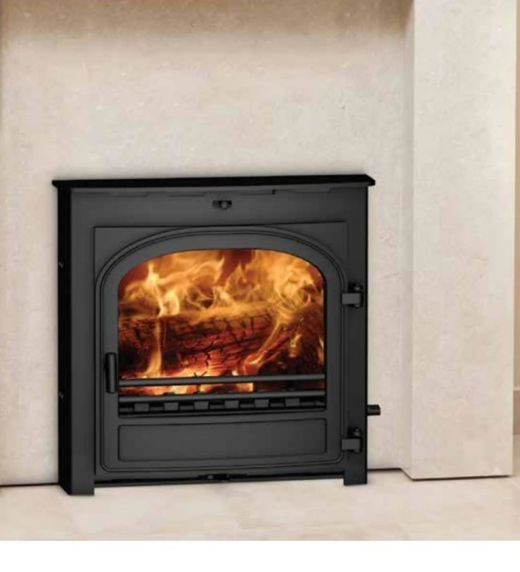Hunter Telford 5 DEFRA Approved Multi Fuel Inset Stove: country  by Direct Stoves, Country