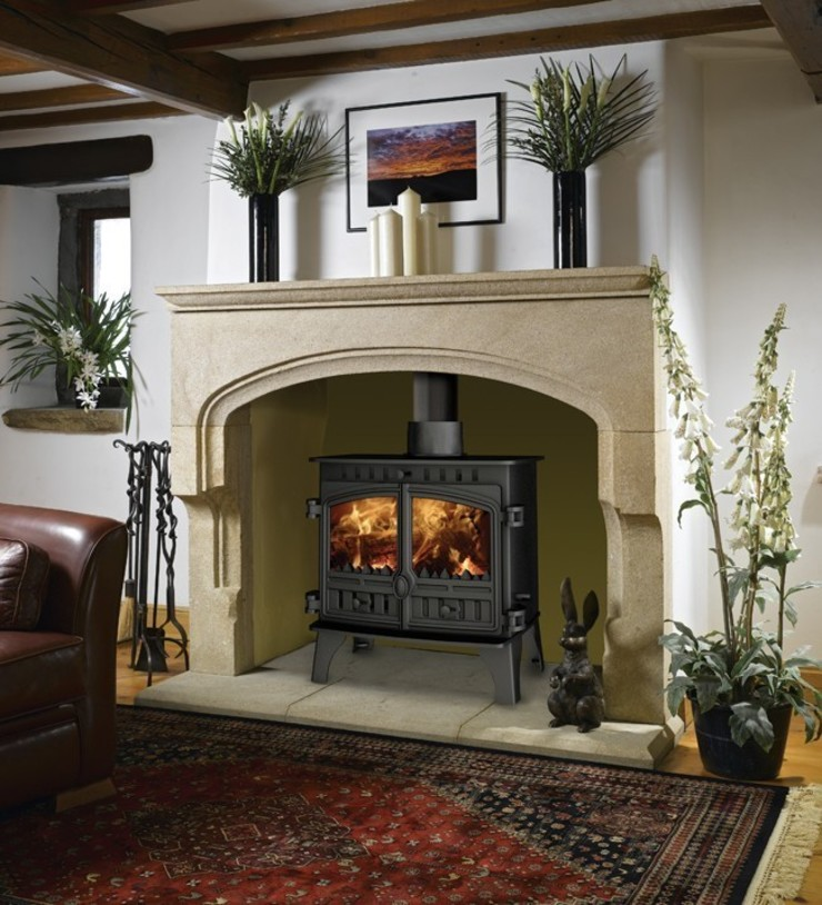 Hunter Herald 8 Slimline DEFRA Approved Multi Fuel Stove: country  by Direct Stoves, Country