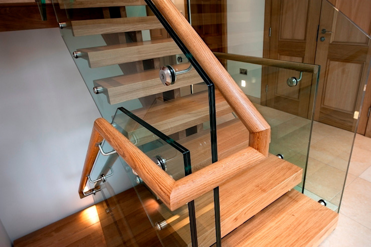 Double central spine staircase : modern  by Smet UK - Staircases, Modern