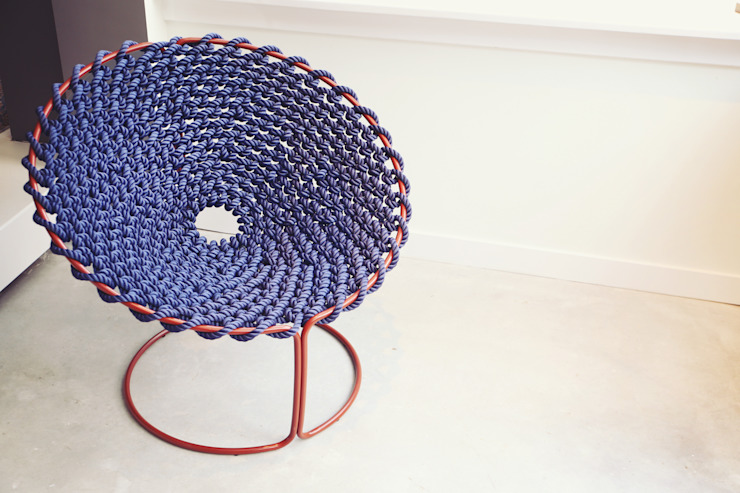 Knotted chair van Studio Rik ten Velden Tropisch
