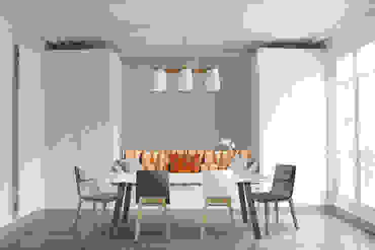 Salle-à-manger + assise et rangements sur mesure Salle à manger scandinave par Yeme + Saunier Scandinave