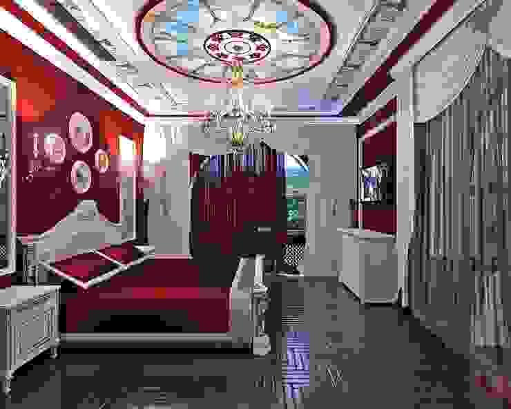 спальня в частном доме от частный дизайнер