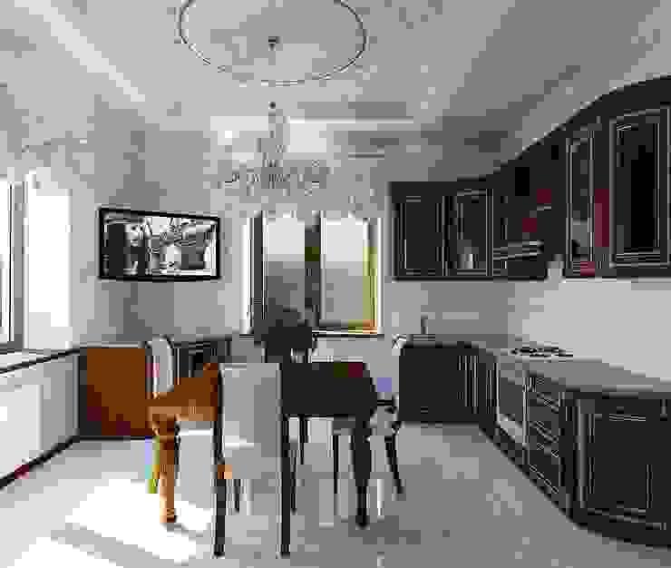 кухня в частном доме от частный дизайнер