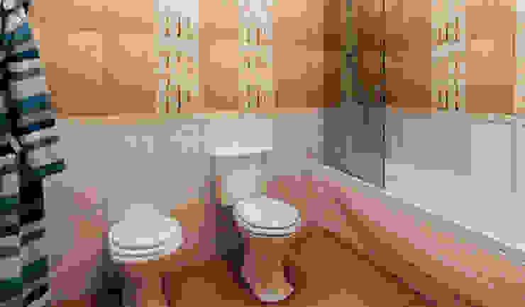 дизайн интерьера трехкомнатной квартиры Ванная комната в стиле модерн от СТРОЙДИЗАЙН Модерн