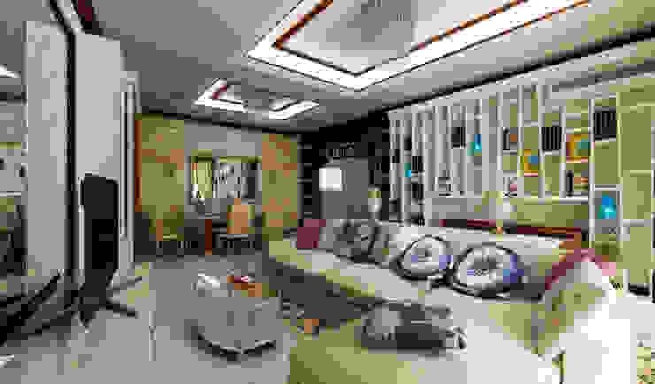 дизайн интерьера трехкомнатной квартиры Гостиная в стиле модерн от СТРОЙДИЗАЙН Модерн