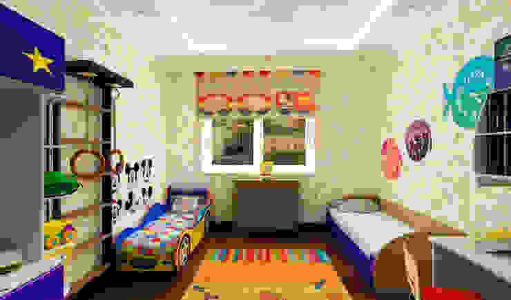дизайн интерьера трехкомнатной квартиры Детская комната в стиле модерн от СТРОЙДИЗАЙН Модерн