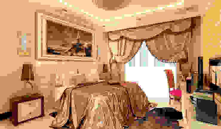 дизайн интерьера трехкомнатной квартиры Спальня в эклектичном стиле от СТРОЙДИЗАЙН Эклектичный