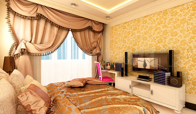 дизайн интерьера трехкомнатной квартиры Спальня в стиле модерн от СТРОЙДИЗАЙН Модерн