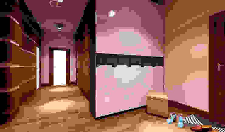 дизайн интерьера трехкомнатной квартиры Коридор, прихожая и лестница в эклектичном стиле от СТРОЙДИЗАЙН Эклектичный