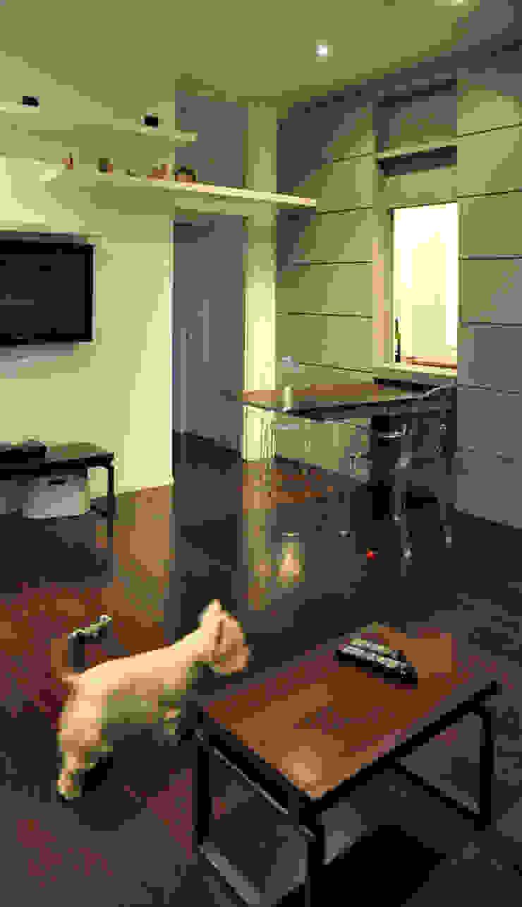 c_house soggiorno Soggiorno moderno di evels & papitto - b4architects Moderno
