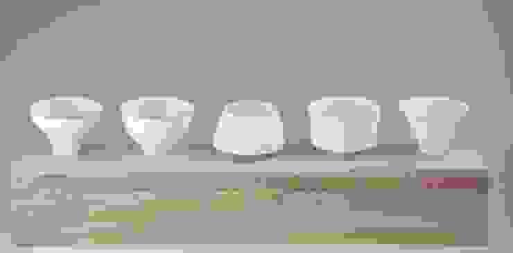 Egg Shell Guinomi (A set of sake cups): modern  by Rin crossing, Modern