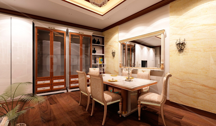дизайн интерьера трехкомнатной квартиры Столовая комната в эклектичном стиле от СТРОЙДИЗАЙН Эклектичный