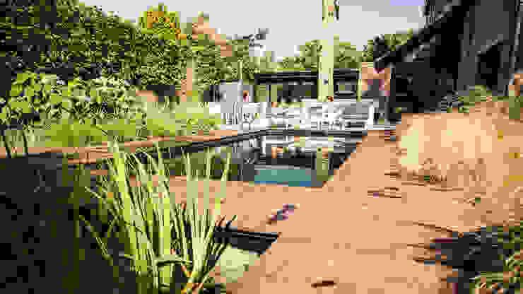 Een villatuin voor levensgenieters Moderne zwembaden van Studio REDD exclusieve tuinen Modern