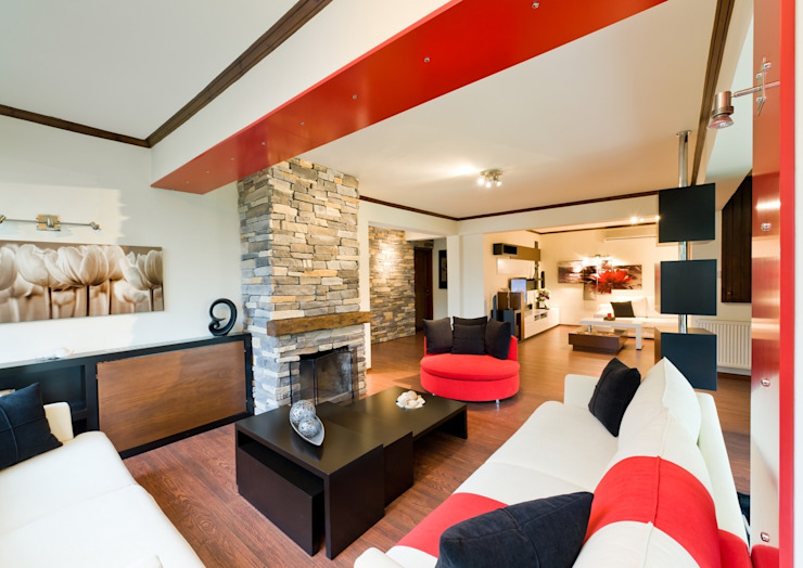 Sezinler ev Modern Oturma Odası Şölen Üstüner İç mimarlık Modern