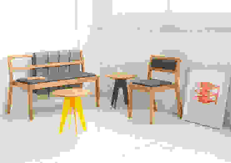 Long Eaton Stacking Chair & Bench: scandinavian  by Assemblyroom, Scandinavian