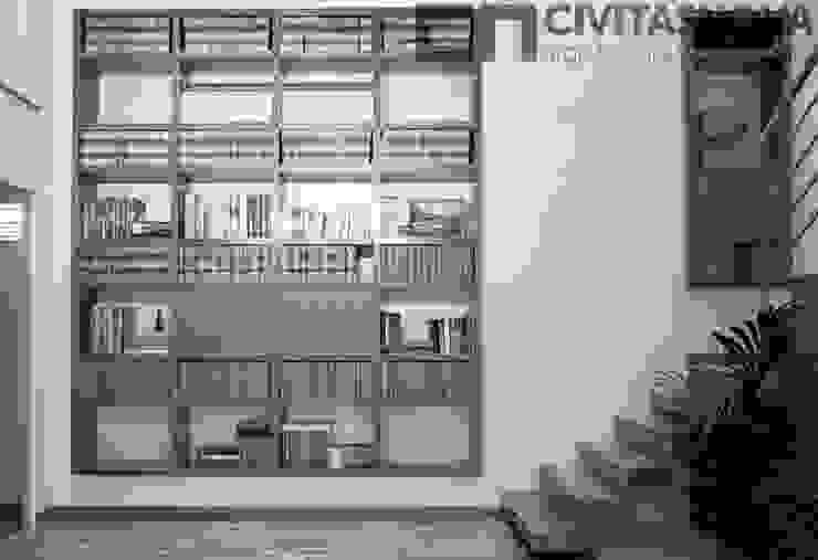 CIVITASNOVA - Biblioteca con jardinera interior Estudios y despachos de estilo moderno de CIVITASNOVA Moderno