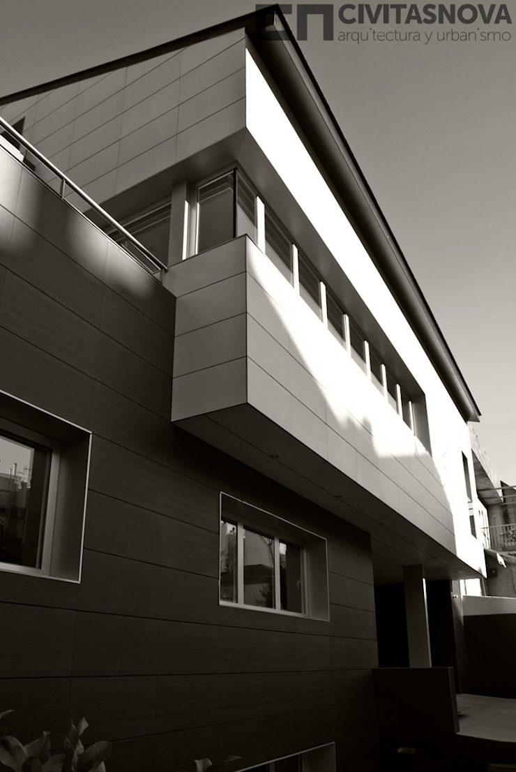 CIVITASNOVA - Volumetría general Casas de estilo moderno de CIVITASNOVA Moderno