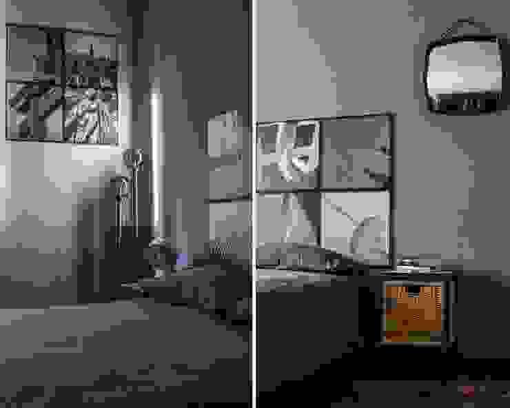 pannelli immagine e second hand forniture Camera da letto in stile industriale di cristina leone architetto Industrial