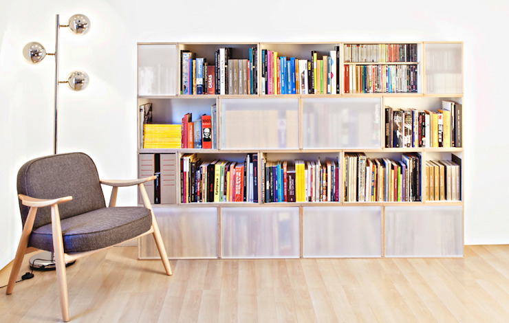 homify Study/officeCupboards & shelving